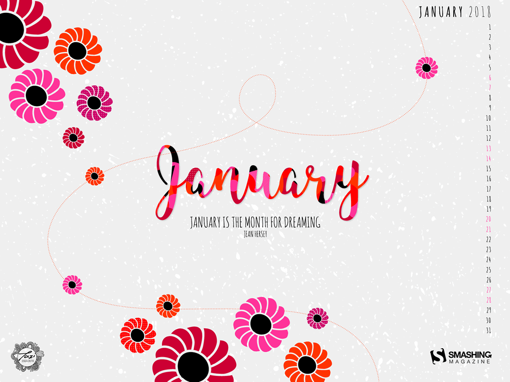 Tazi January Wallpaper