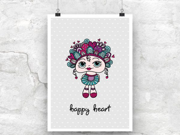 DIY A3-Happy-Heart-Poster