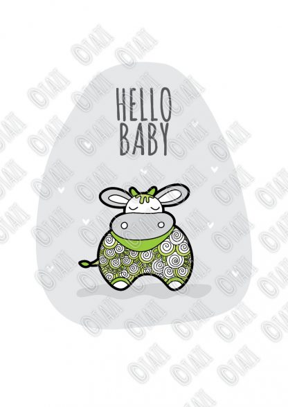 DIY A3-Hello-Baby-Green