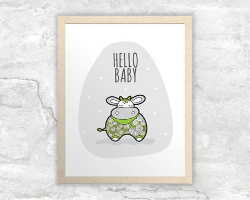 DIY A3-Hello-Baby-Green-Frame