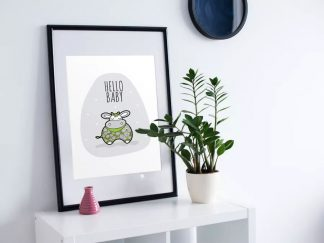 DIY A3-Hello-Baby-Green-Frame