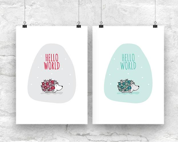 DIY A3-Hello-World-Both-Wall