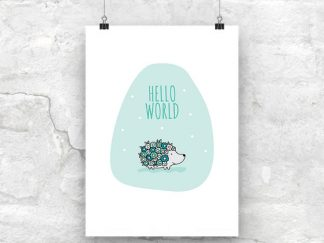 DIY A3-Hello-World-Green-Wall