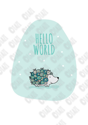 DIY A3-Hello-World-Hedgehog-Green