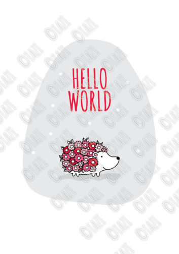 DIY A3-Hello-World-Hedgehog-Red