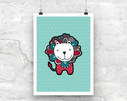 DIY A3-Lion-Poster