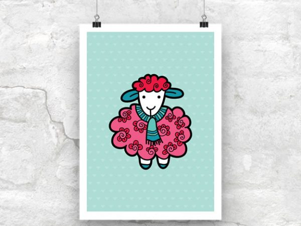 DIY A3-Sheep-Poster