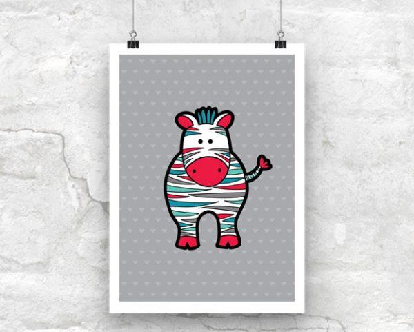 DIY A3-Zebra-Poster