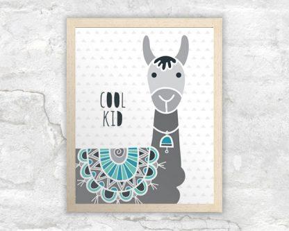 DIY A3-cool-kid-llama-frame