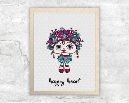 DIY A3-happy-heart-frame
