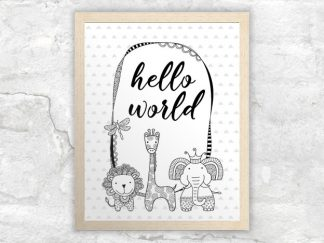 DIY A3-hello-world-bw-frame