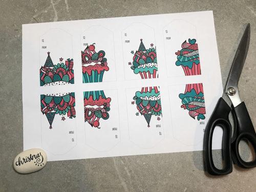 DIY A4-gift-tags-xmas-cupcake-page