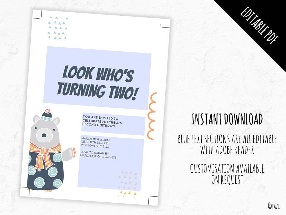 DIY Bear-baby-invitation-editable