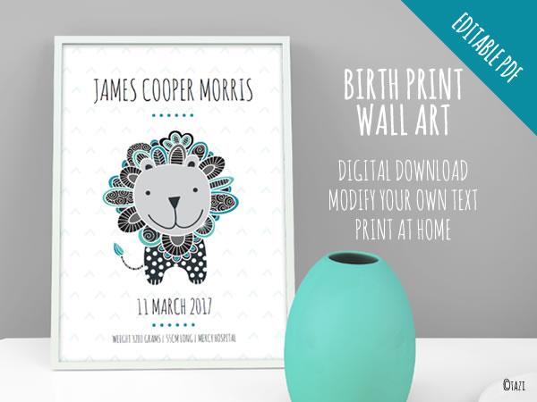 DIY Lion Print