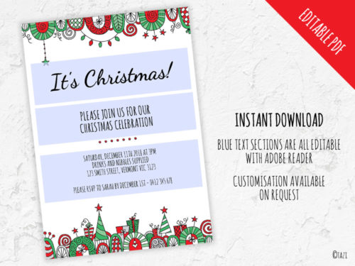 DIY Christmas-Border-Editable