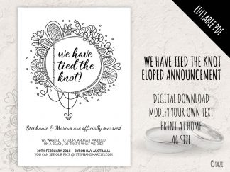 DIY Eloped Circle BW
