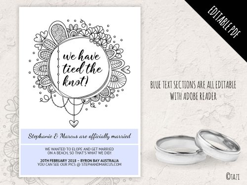 DIY Eloped Circle BW editable