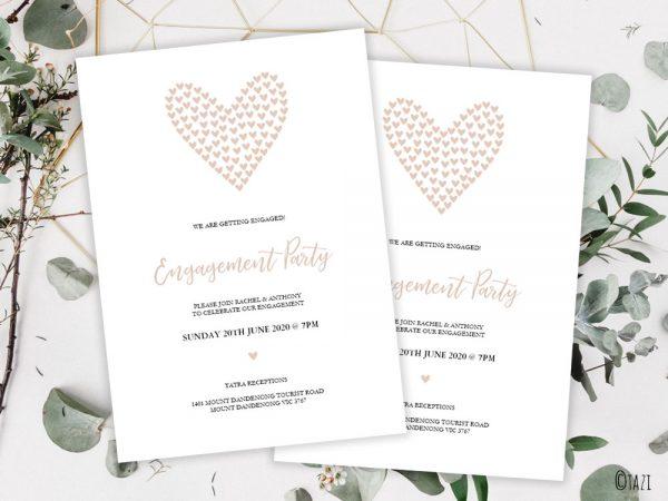 DIY Engagement-Hearts