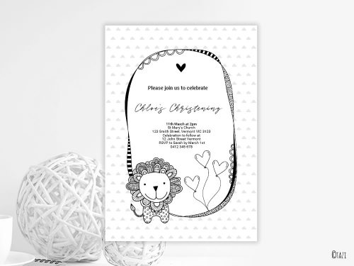 DIY Infant Lion Invitation