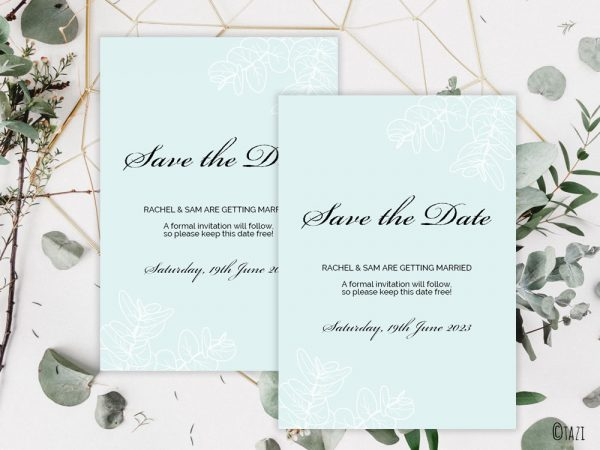 DIY Leaves-PaleGreen-Save-Date