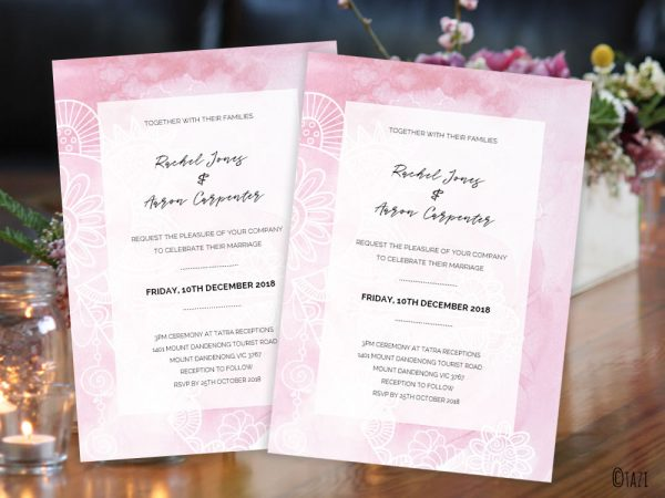 DIY Pink-watercolour-invitation