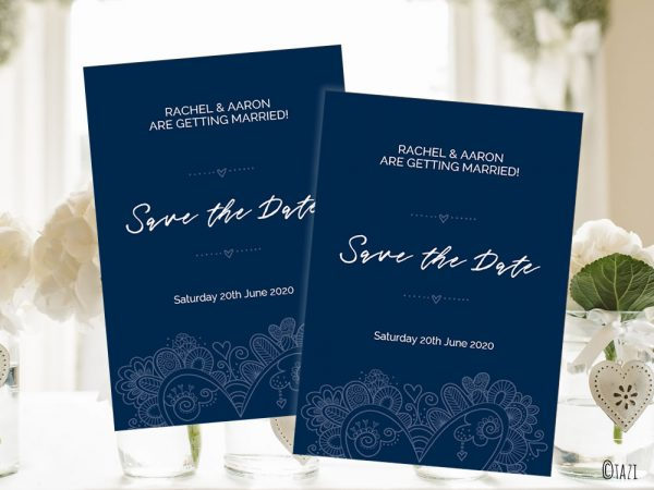 DIY Save-Date-Heart-Navy