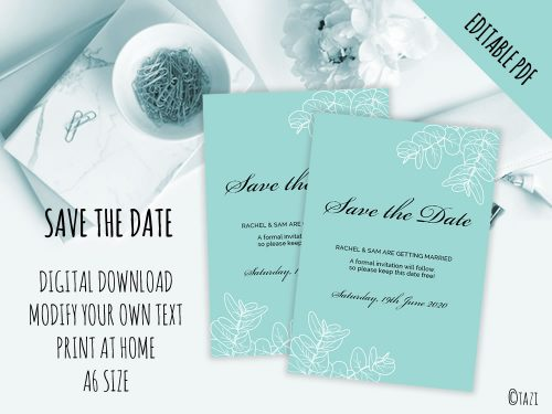 DIY-Save-Date-Leaves-Green