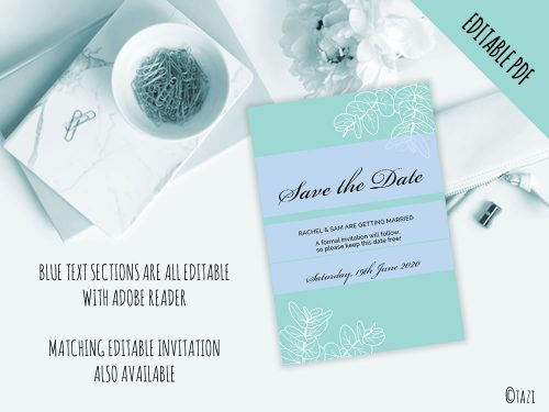 DIY-Save-Date-Leaves-Green-Editable