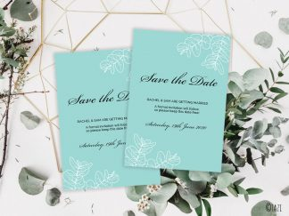 DIY Save-Date-Leaves-Green-Hero
