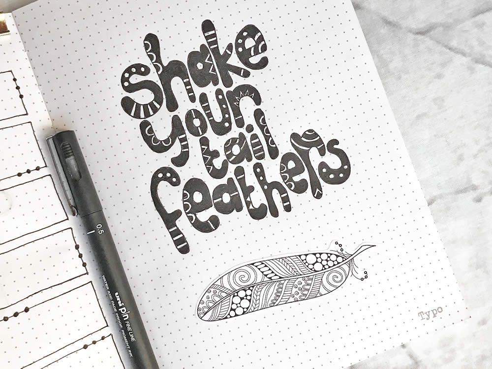 DIY Stickers-Feathers-Journal