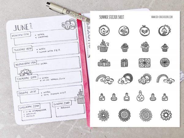 DIY Stickers-Summer-Journal