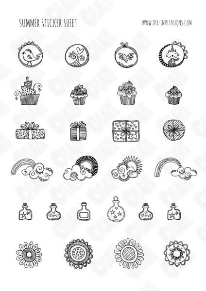 DIY Stickers-Summer