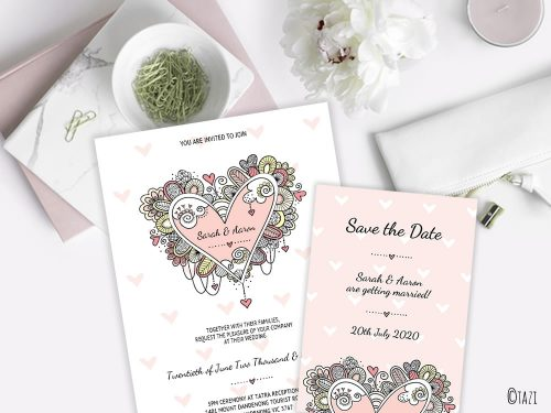DIY Wedding & Save Date Heart