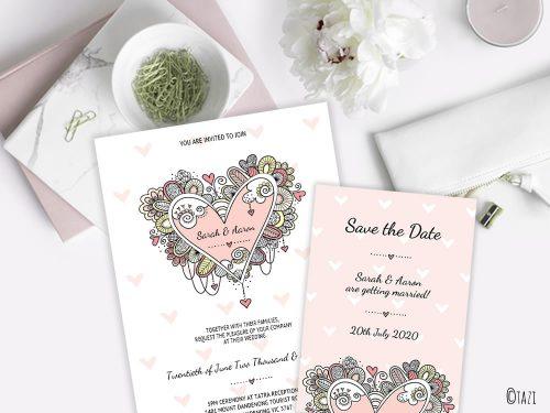DIY Wedding & Save Date Heart