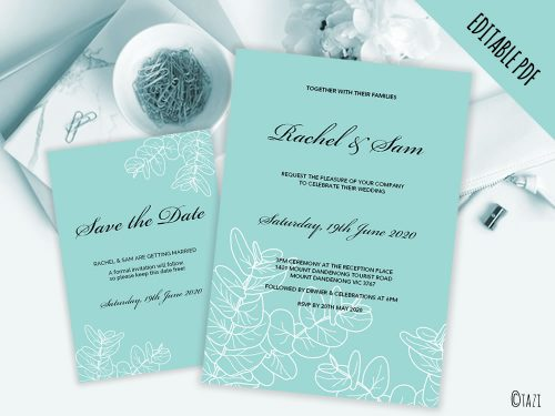 DIY-Wedding-Leaves-Aqua