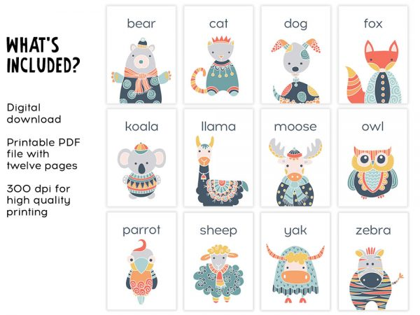 DIY animals-flashcard-included