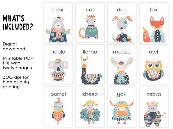 DIY animals-flashcard-included