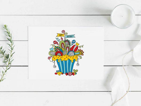 DIY birthday-cupcake-mockup