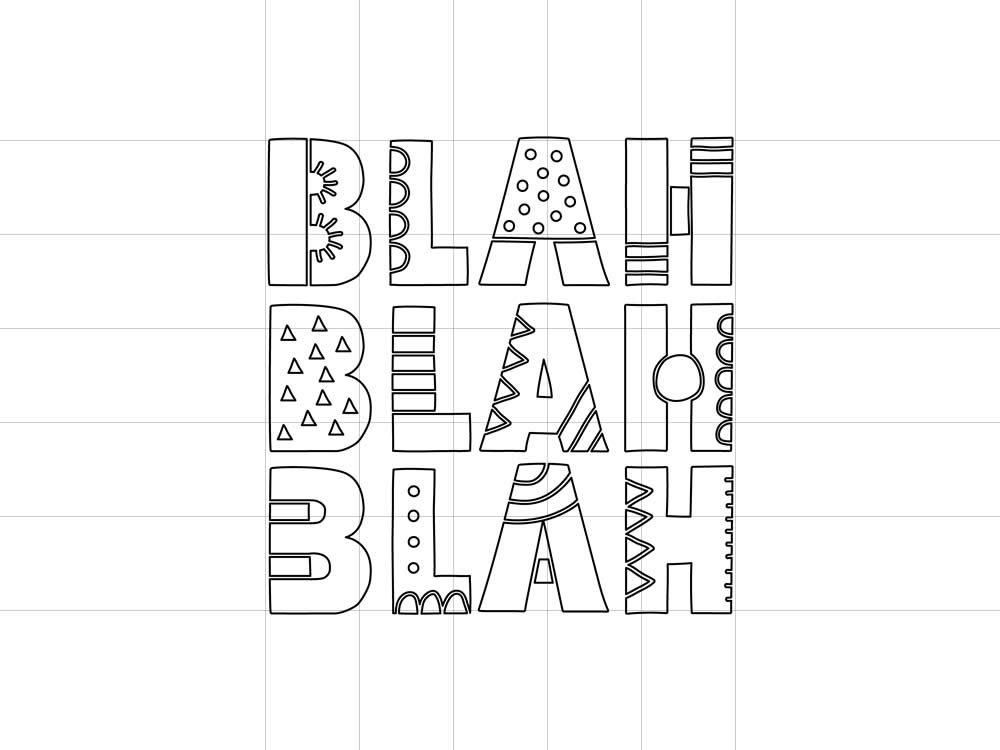 DIY blah-blah-outline-preview