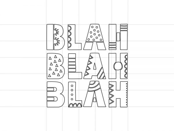 DIY blah-blah-outline-preview