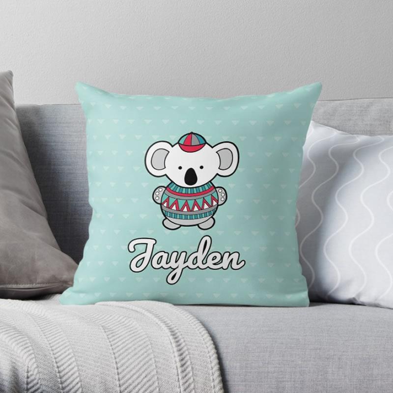 DIY custom baby cushion Jayden