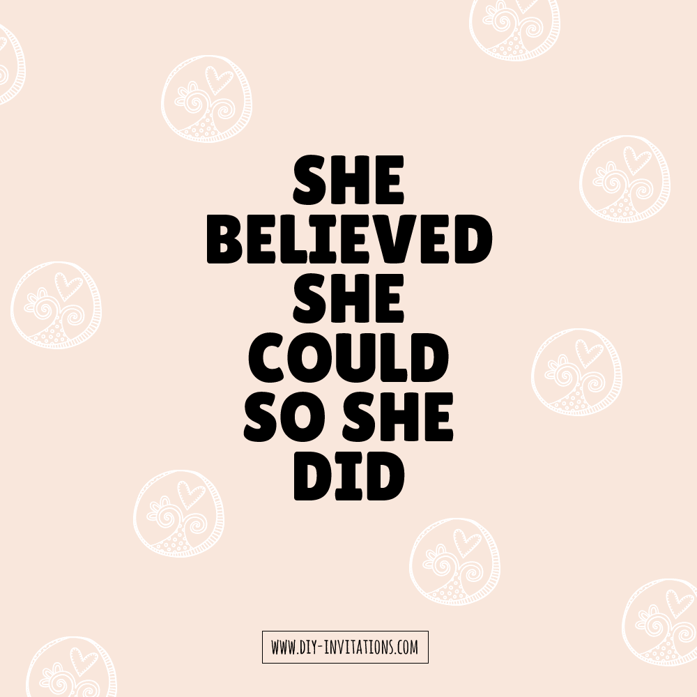 DIY-she-believed-she-could