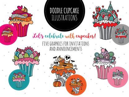 DIY doodle cupcakes