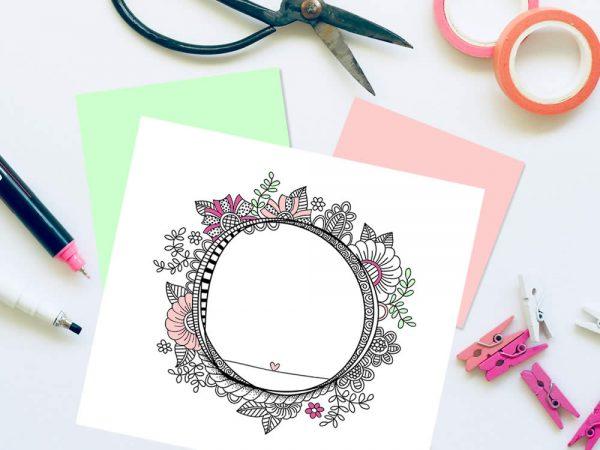 DIY doodle-frame-outline