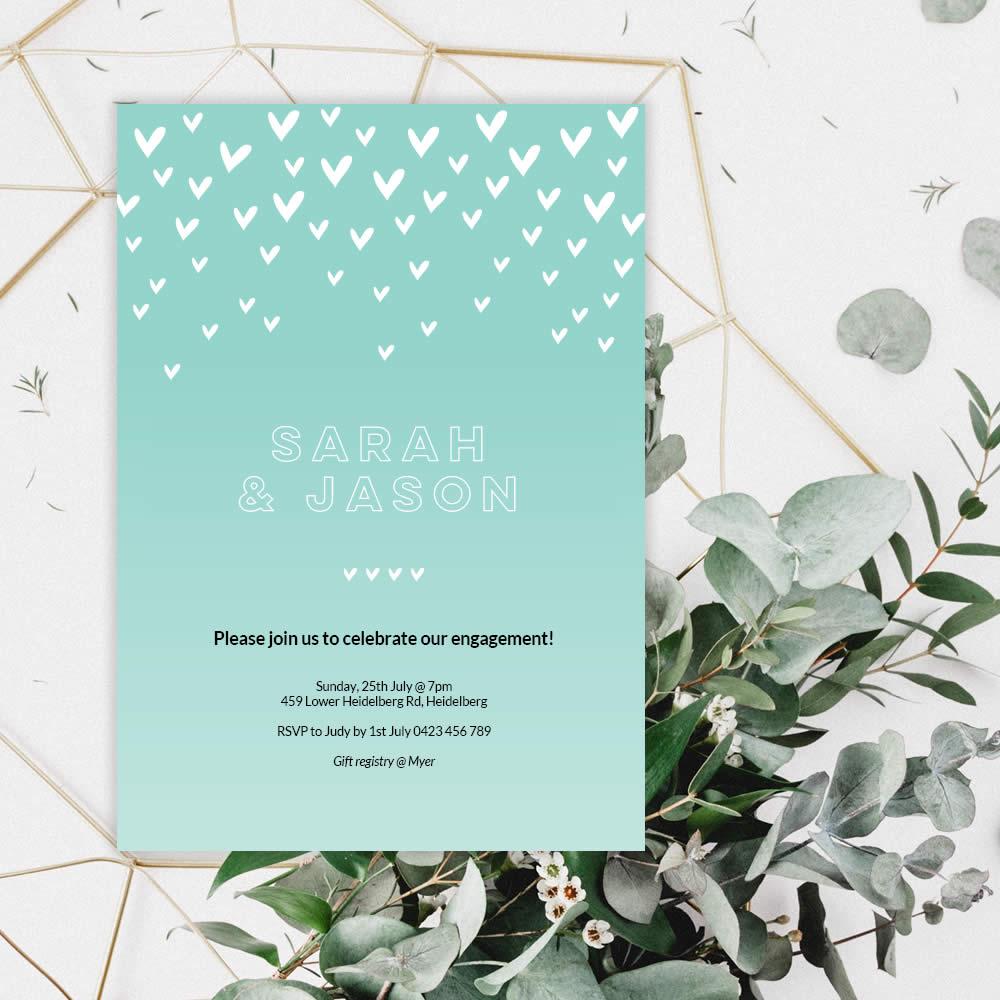 DIY green-heart-engagement