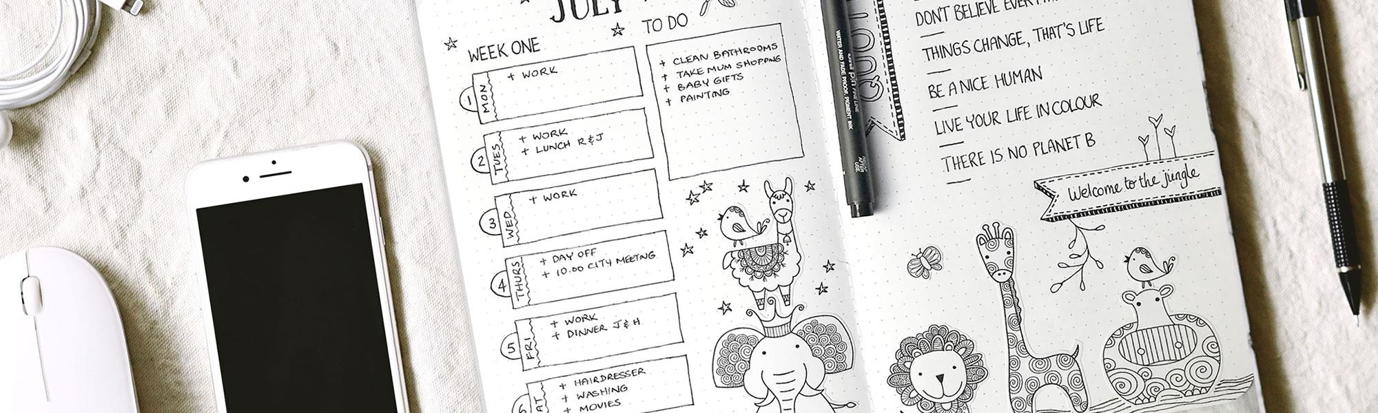 DIY header journal