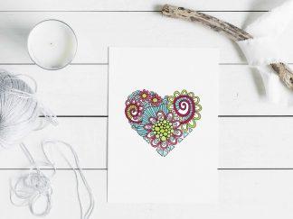 DIY heart doodle mockup