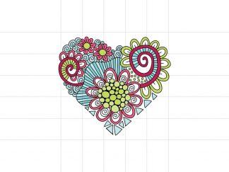 DIY heart doodle