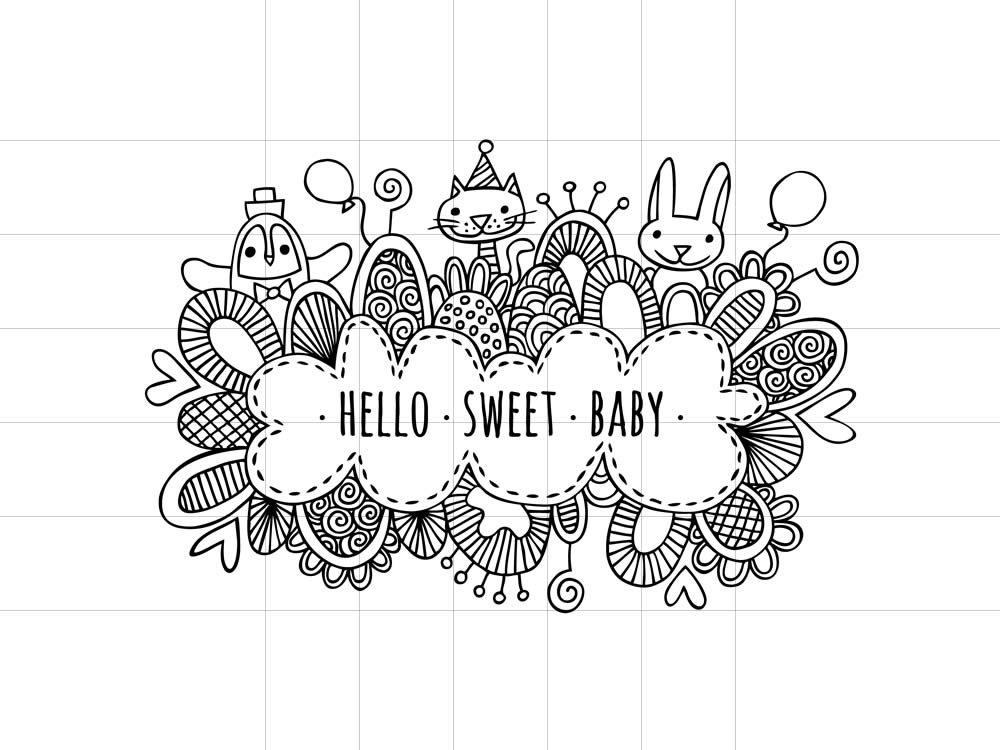 DIY hello-sweet-baby-black