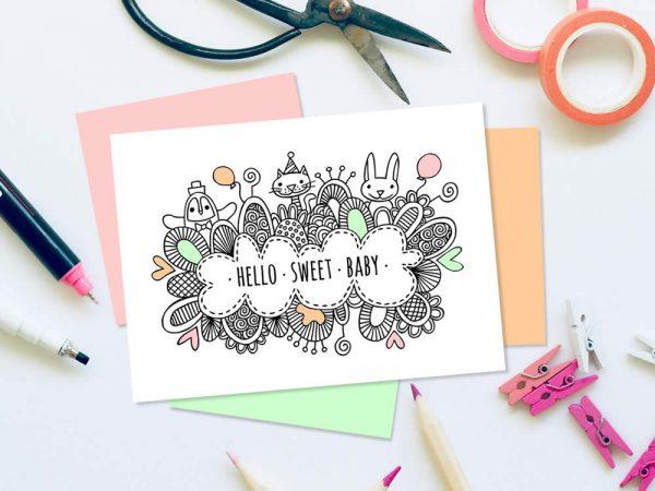DIY hello-sweet-baby-craft